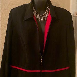 Black with red interior blazer